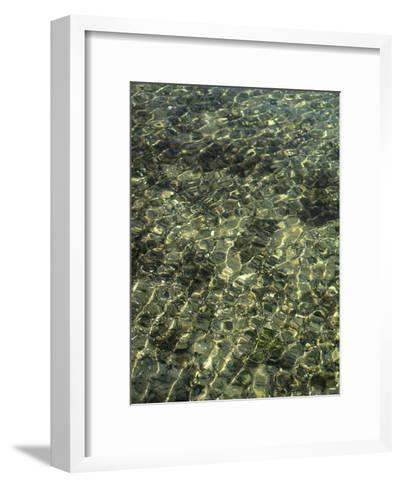 A Design in Water Caused by Ripples-Clarita Berger-Framed Art Print