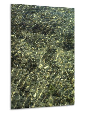 A Design in Water Caused by Ripples-Clarita Berger-Metal Print