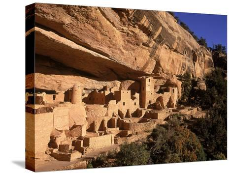 Ruins of the Anasazi Cliff Palace Occupied Between A.D. 550 and 1300-Ira Block-Stretched Canvas Print