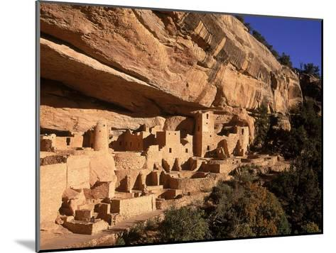 Ruins of the Anasazi Cliff Palace Occupied Between A.D. 550 and 1300-Ira Block-Mounted Photographic Print