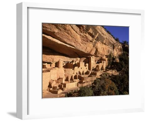 Ruins of the Anasazi Cliff Palace Occupied Between A.D. 550 and 1300-Ira Block-Framed Art Print