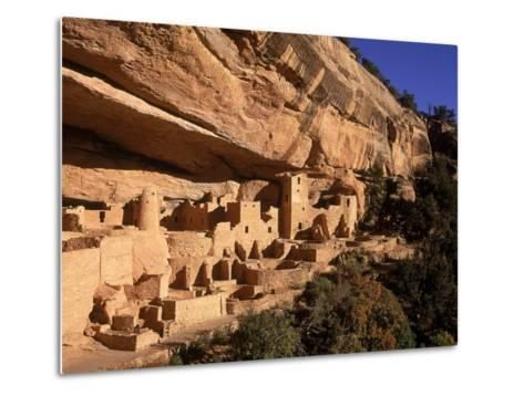 Ruins of the Anasazi Cliff Palace Occupied Between A.D. 550 and 1300-Ira Block-Metal Print
