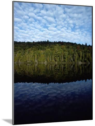 Shoreline and Clouds Reflected in the Still Waters of Rainbow Lake-Sam Abell-Mounted Photographic Print