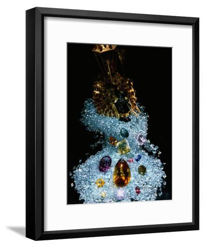 A Jewelry Display at a Showroom in Colombo, Sri Lanka-James L^ Stanfield-Framed Art Print