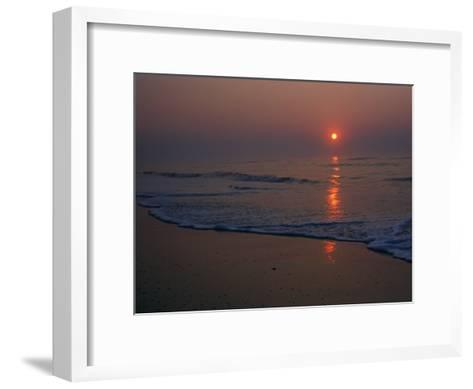 A View of the Assateague Island Surf at Sunrise-Medford Taylor-Framed Art Print