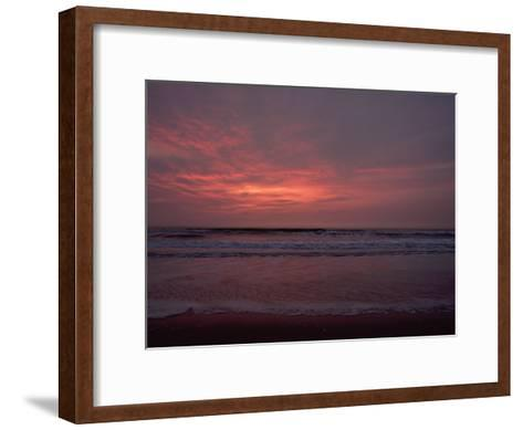 Pastel Clouds Color the Atlantic Surf-James P^ Blair-Framed Art Print