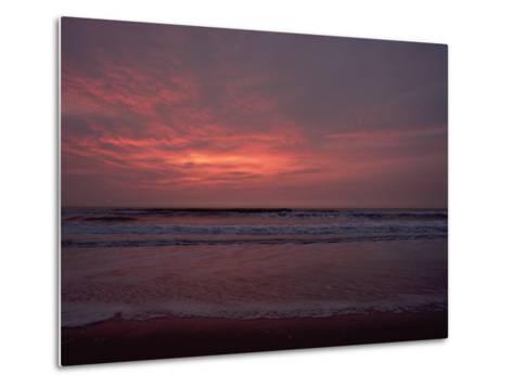 Pastel Clouds Color the Atlantic Surf-James P^ Blair-Metal Print