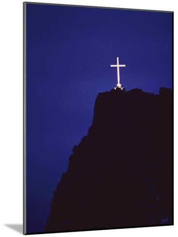 A Large Cross Situated on a Rocky Headland-George F^ Mobley-Mounted Photographic Print