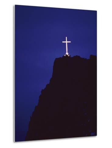 A Large Cross Situated on a Rocky Headland-George F^ Mobley-Metal Print