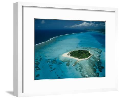 Aerial View of Saipan Island in Micronesia-Paul Chesley-Framed Art Print