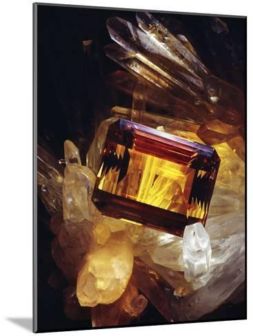Citrine Resting on a Crystal-Victor R^ Boswell, Jr-Mounted Photographic Print