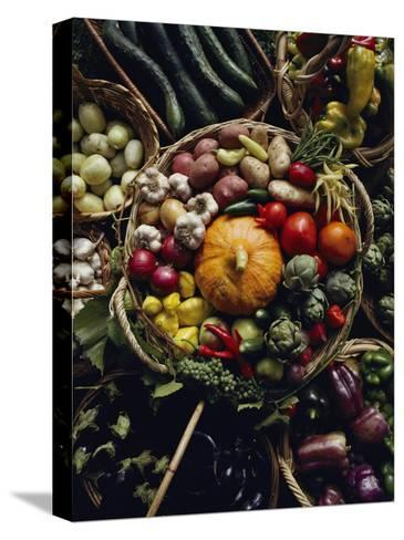 Various Vegetables in a Basket at the Tilth Festival in Seattle-Sam Abell-Stretched Canvas Print