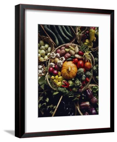 Various Vegetables in a Basket at the Tilth Festival in Seattle-Sam Abell-Framed Art Print