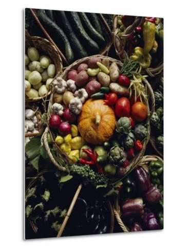 Various Vegetables in a Basket at the Tilth Festival in Seattle-Sam Abell-Metal Print
