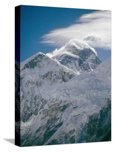 Mount Everest Viewed from Kala Pattar-Michael Klesius-Stretched Canvas Print