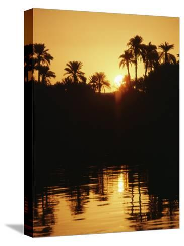Sunrise over the Nile River-Anne Keiser-Stretched Canvas Print