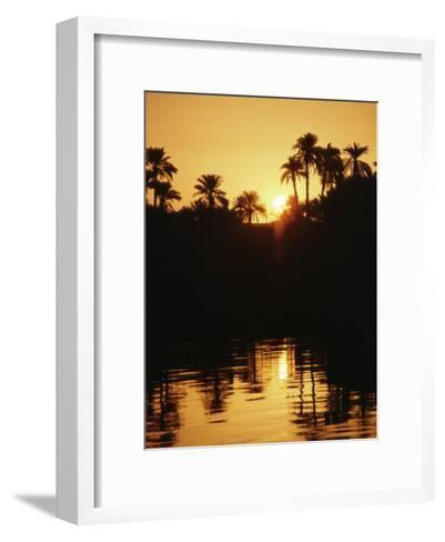 Sunrise over the Nile River-Anne Keiser-Framed Art Print