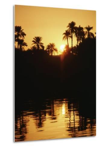 Sunrise over the Nile River-Anne Keiser-Metal Print