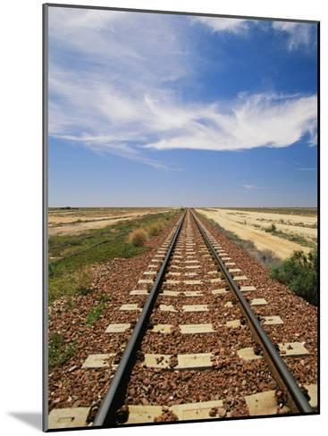 A View of the Indian Pacific Railroad Crossing the Nullarbor Plain-Richard Nowitz-Mounted Photographic Print