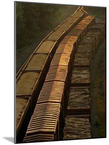 Three Trains Run on Parallel Tracks-Medford Taylor-Mounted Photographic Print
