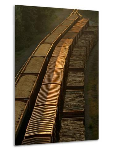 Three Trains Run on Parallel Tracks-Medford Taylor-Metal Print