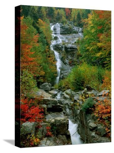 A Stream Runs Swiftly over Rocks-Medford Taylor-Stretched Canvas Print
