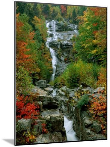 A Stream Runs Swiftly over Rocks-Medford Taylor-Mounted Photographic Print