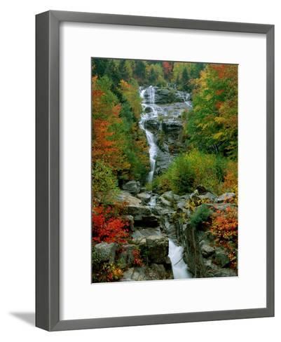 A Stream Runs Swiftly over Rocks-Medford Taylor-Framed Art Print