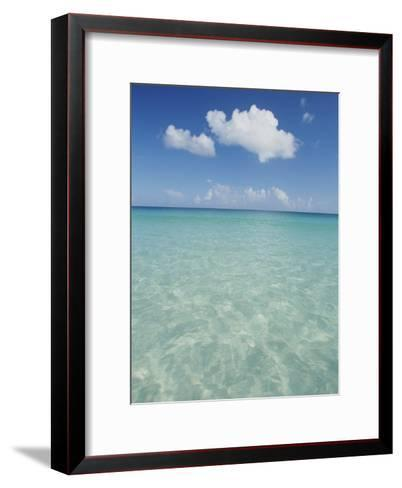 Aquamarine Water Bleeds into Blue Skies in This Tropical View-Michael Melford-Framed Art Print