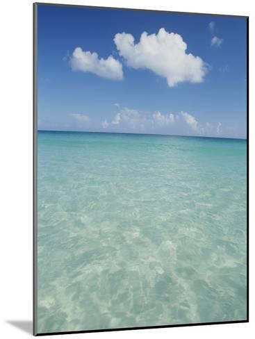 Aquamarine Water Bleeds into Blue Skies in This Tropical View-Michael Melford-Mounted Photographic Print