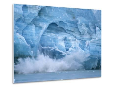 Hubbard Glacier Calving Chunks of Ice into the Water-Michael Melford-Metal Print