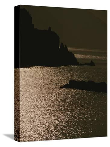 The Cinque Terre Coast at Sunset-Raul Touzon-Stretched Canvas Print