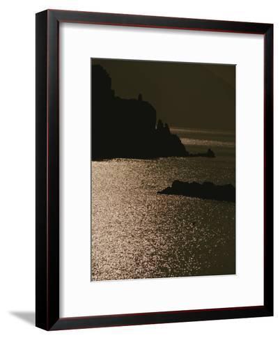 The Cinque Terre Coast at Sunset-Raul Touzon-Framed Art Print