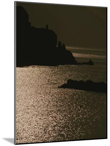 The Cinque Terre Coast at Sunset-Raul Touzon-Mounted Photographic Print