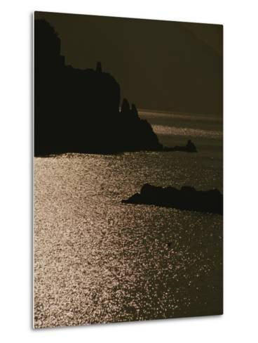 The Cinque Terre Coast at Sunset-Raul Touzon-Metal Print