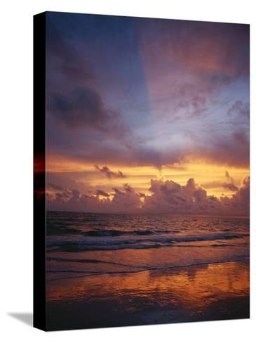 A Multi-Hued Sunset over Marco Island, Florida-Raul Touzon-Stretched Canvas Print