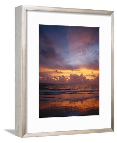 A Multi-Hued Sunset over Marco Island, Florida-Raul Touzon-Framed Art Print