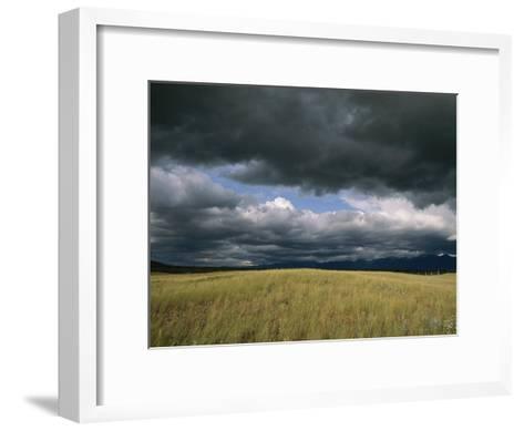 Dark Clouds Gather over a Prairie in the National Bison Range-Annie Griffiths Belt-Framed Art Print