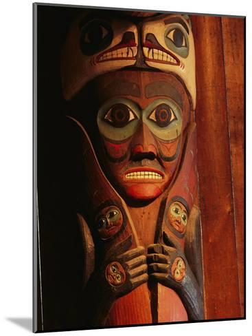 Detail of House Post in the Totem Bight Clan House-Rich Reid-Mounted Photographic Print