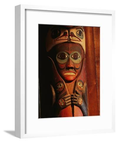 Detail of House Post in the Totem Bight Clan House-Rich Reid-Framed Art Print