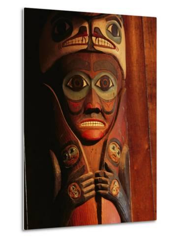 Detail of House Post in the Totem Bight Clan House-Rich Reid-Metal Print