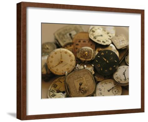 A Still Life of Old Watch Faces-Joel Sartore-Framed Art Print