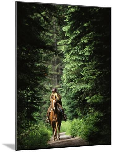 Horseback Riding on an Emerald Lake Lodge Bridle Trail-Michael Melford-Mounted Photographic Print
