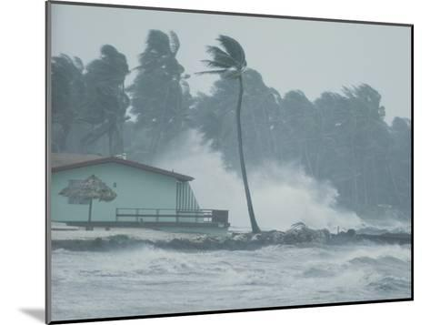 The Powerful Wind and Rain of a Hurricane Pummel a Building-Otis Imboden-Mounted Photographic Print