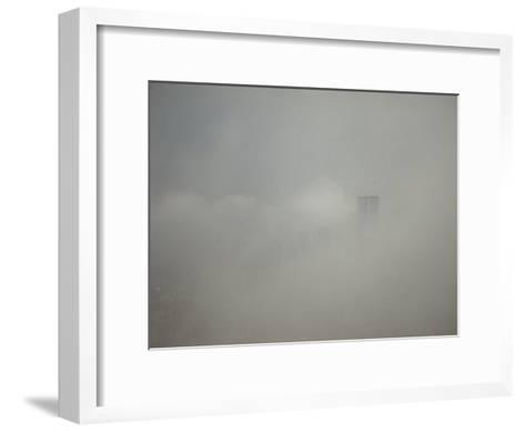 New York City with World Trade Center Through a Storm Front-Jason Edwards-Framed Art Print