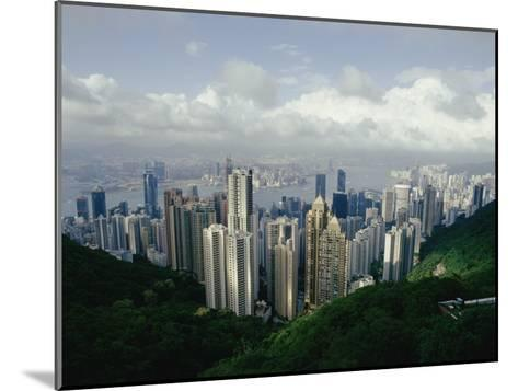 Hong Kong Island and the Bay with Kowloon on the Far Shore-Jason Edwards-Mounted Photographic Print