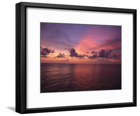 Sunset over the Gulf of Mexico-Paul Damien-Framed Art Print