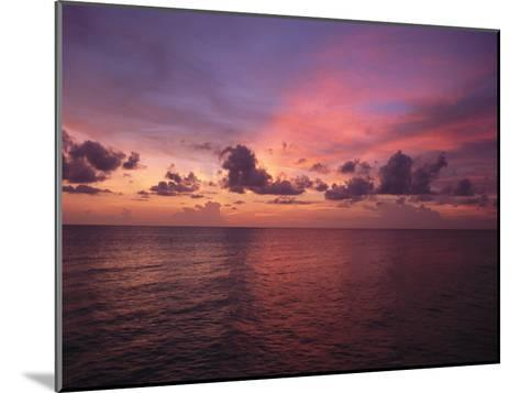 Sunset over the Gulf of Mexico-Paul Damien-Mounted Photographic Print