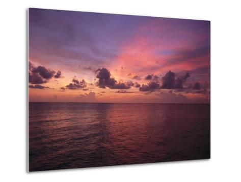 Sunset over the Gulf of Mexico-Paul Damien-Metal Print