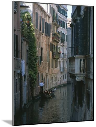 A Gondolier and Two Tourists on a Canal in Venice-Taylor S^ Kennedy-Mounted Photographic Print